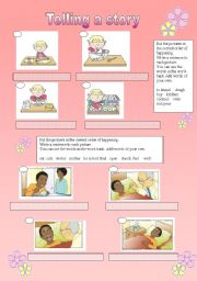 English Worksheet: Telling a story