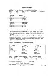 English Worksheets: compartive Part02
