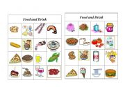English Worksheet: Bingo Food and Drink ( 2 of 8 )