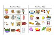 English Worksheet: Bingo Food and Drink ( 3 of 8 )