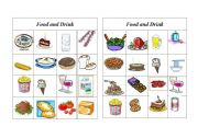 English Worksheet: Bingo Food and Drink ( 4 of 8 )