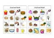 English Worksheet: Bingo Food and Drink ( 5 of 8 )