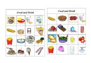 English Worksheet: Bingo Food and Drink ( 6 of 8 )