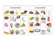 English Worksheet: Bingo Food and Drink ( 7 of 8 )
