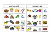 English Worksheet: Bingo Food and Drink ( 8 of 8 )
