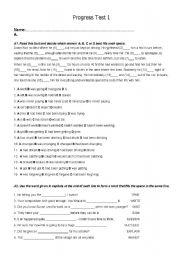 English Worksheet: Test CAE
