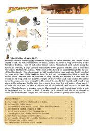 English Worksheet: Indiana Jones Adventure