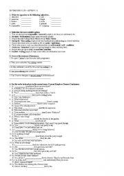 English Worksheets: Revision exercises for Enterprise Plus - units 1-2