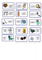 English Worksheet: Sport Equipment Domino