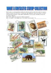 English Worksheets: WHAT A FANTASTIC STAMP COLLECTION