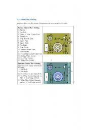 English Worksheets: Table arrangements