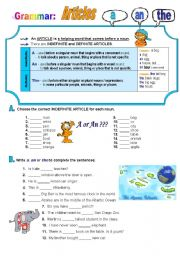 English Worksheets: Articles