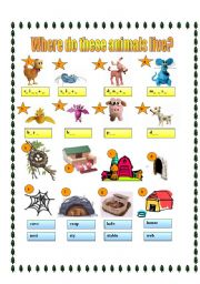 English Teaching Worksheets Animal Homes