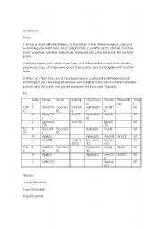 English Worksheets: TUTTI FRUTTI