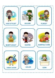 English Worksheet: JOBS PROFESSIONS PART 3 (25.08.08)