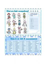English Worksheets: What are their occupation