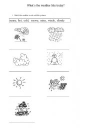 English worksheets: the Weather worksheets, page 34