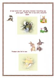 English Worksheets: Bambi Part two   3 pages