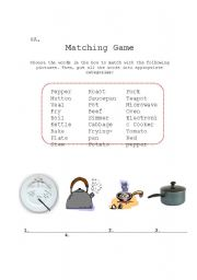 English Worksheet: Vocabulary Booster - Cooking