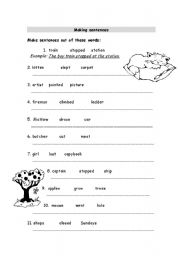 Printables Building Sentences Worksheets making sentences worksheets davezan english worksheet 2