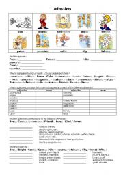 English Worksheet: adjectives about personality
