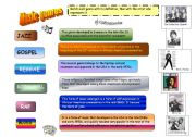 English Worksheets: Music genres