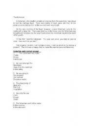 English Worksheets: The fisherman