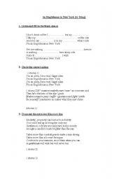 English Worksheets: Song-
