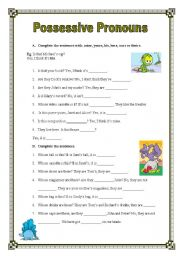 English Worksheet: Possessive Pronouns (27.08.08)