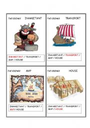 English Worksheet: Ancient civilizatios  VIKINGS  Set  4/ 5