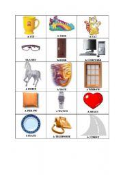 English worksheet: Random Things flash cards 2