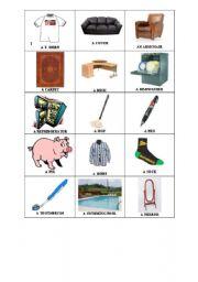 English Worksheets: Random Things flash cards 3