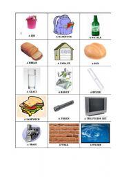 English Worksheets: Random Things flash cards 4