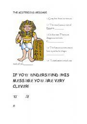 English Worksheet: Egypt  introduction