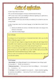English Worksheets: Letter of application (28.08.08)