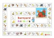 English Worksheets: Barnyard Animals (board game)