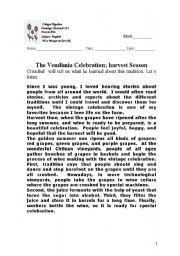 English Worksheets: The Vendimia
