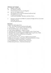 English Worksheets: prepostions