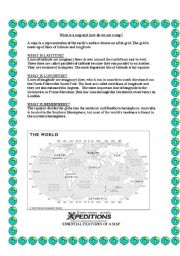 English Worksheets: What is a map and how do we use it