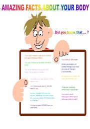 English Worksheets: amazing facts about your body