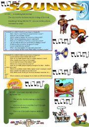 English Worksheets: SOUNDS - fun activities