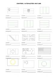 English worksheets: nationalities worksheets, page 58