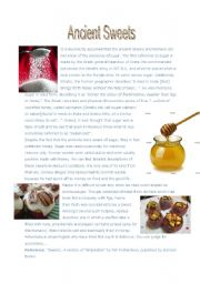 English Worksheet: Ancient Sweets