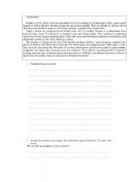 English Worksheets: Hispanics
