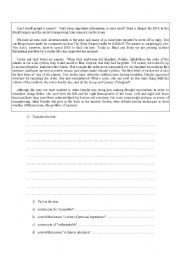 English Worksheets: Improve your mind