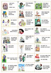 English Worksheets: ACTIONS DOMINOE