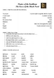 Pirates of the Caribbean Worksheet 2
