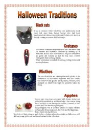English Worksheets: Halloween Traditions - 2 (29.08.08)