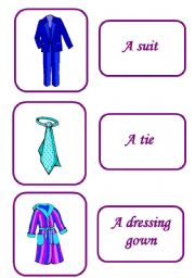 English Worksheets: clothes memory  game 5 / 12