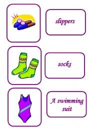 English Worksheets: clothes memory game 6 / 12
